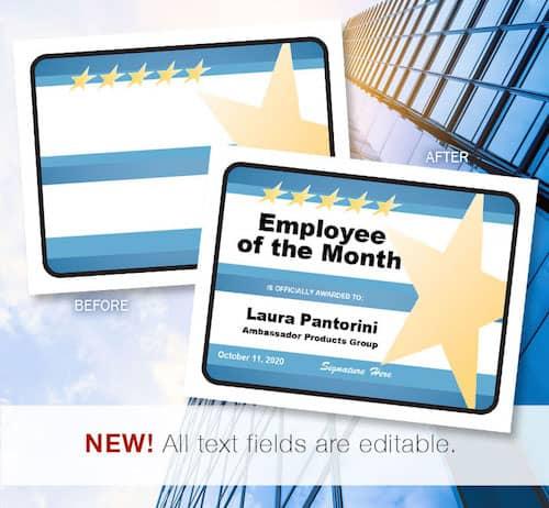 Business award certificates image