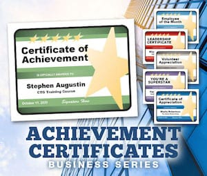 Business certificates templates image