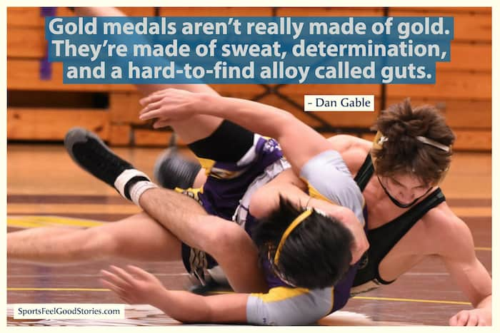 Dan Gable quote on gold medals image