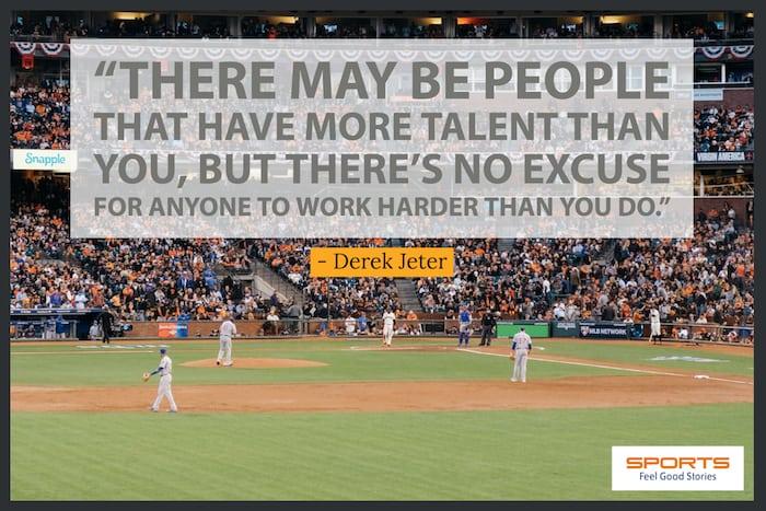 Derek Jeter quote on working harder image
