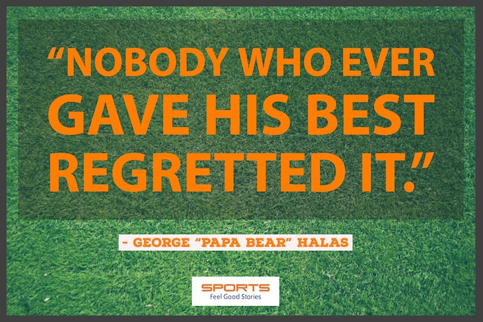 George Halas quotation on giving your best image