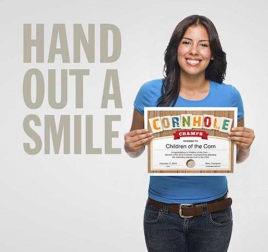 Hand out a smile image