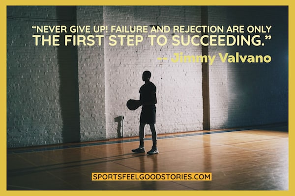 Jimmy Valvano quote on failure image