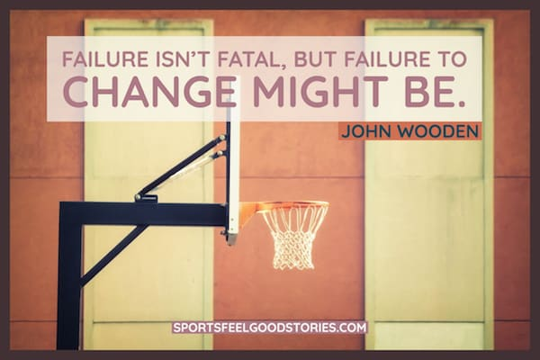 John Wooden quote on failure image