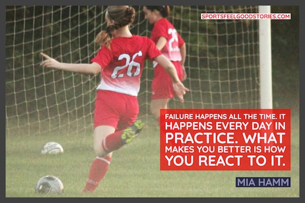 Mia Hamm failure quotes image