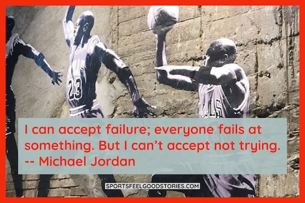 Michael Jordan I can accept failure quote image