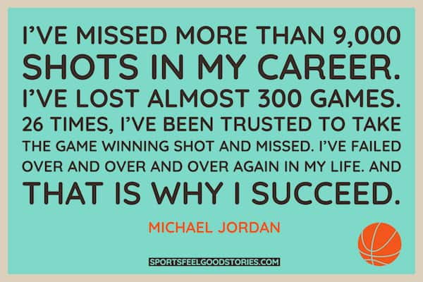 Michael Jordan quote on missed shots image