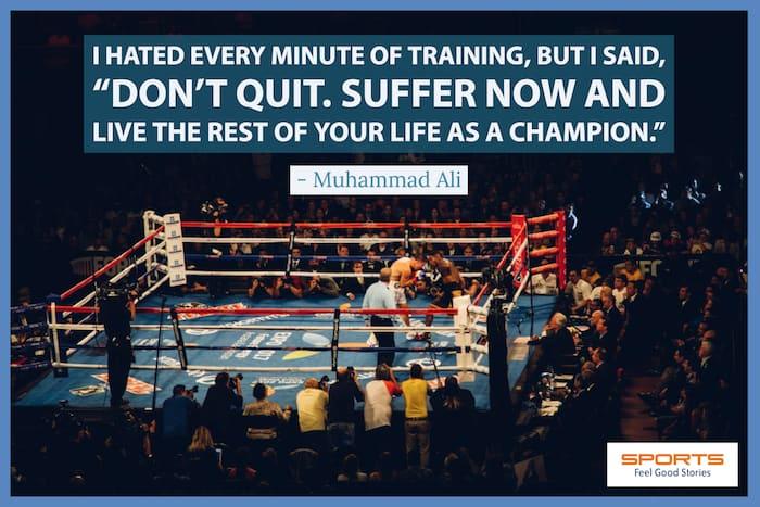 Muhammad Ali quote on training image
