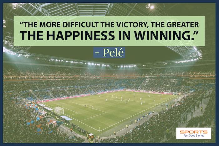Pele quote on winning image