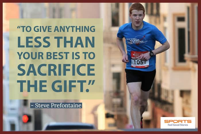 Steve Prefontaine - Inspirational Sports Quotes image