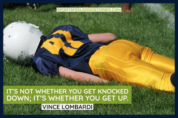 Vince Lombardi quote on getting back up image