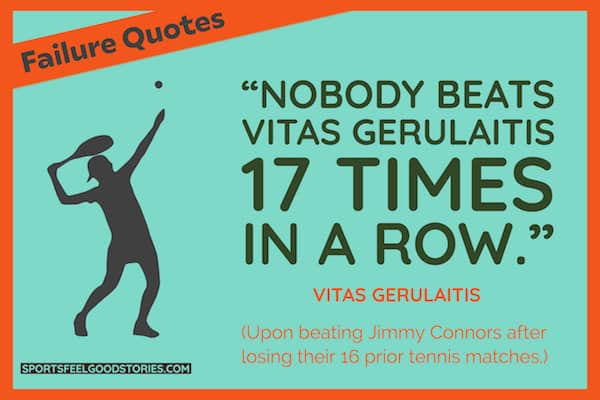Vitas Gerulaitis quote on losing image