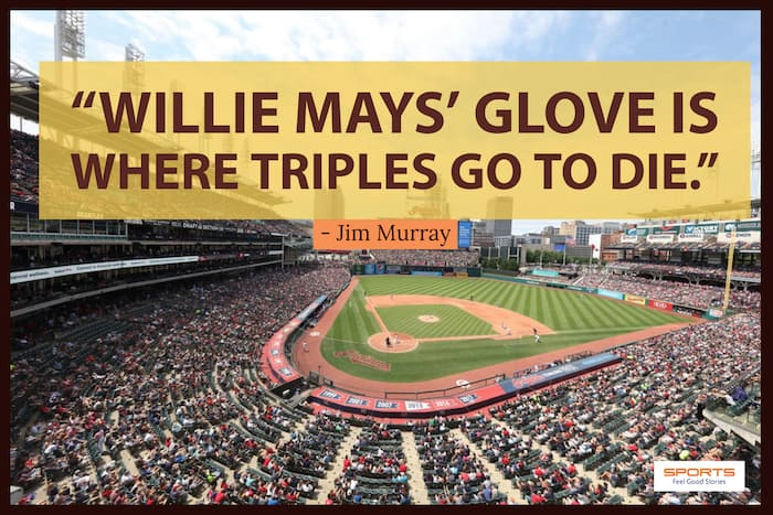 Willie Mays' glove quote image
