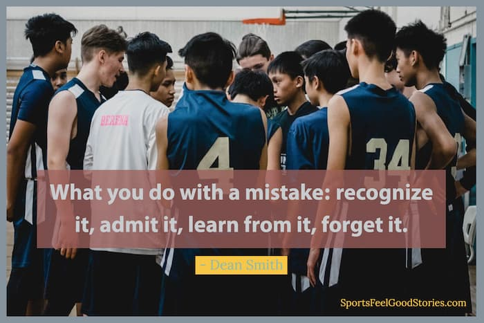 Dean Smith on mistakes quote image