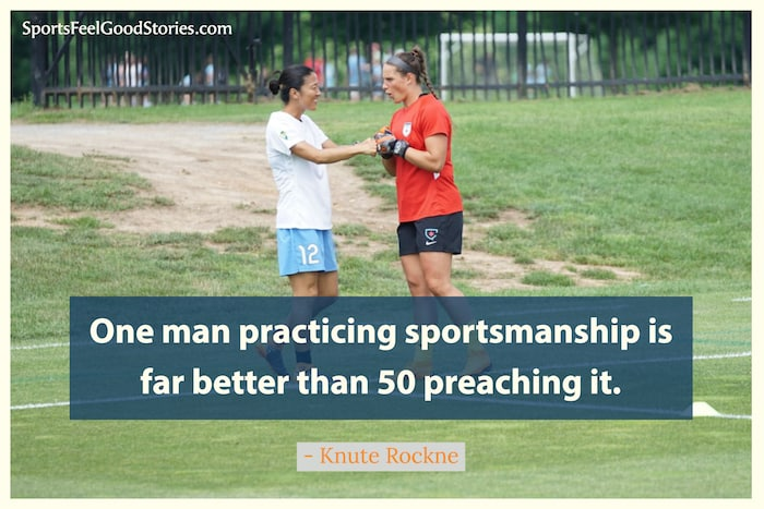 Knute Rockne quote on sportsmanship image