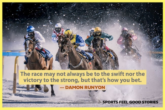 Damon Runyon Quote on how you bet image