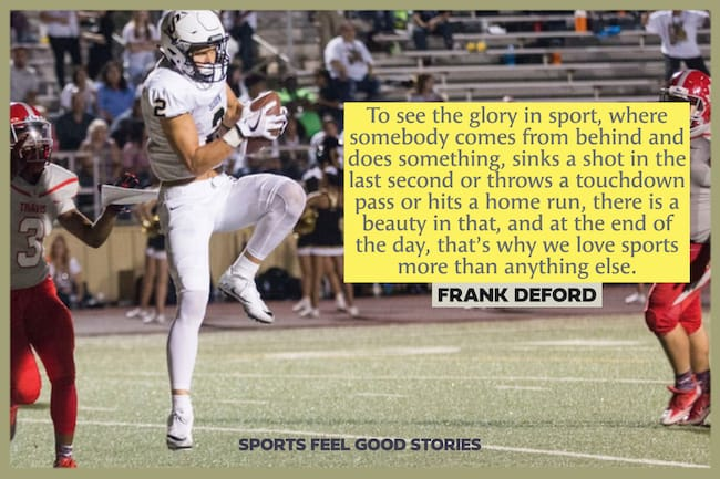 Famous sports quotes Frank DeFord image