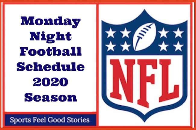 NFL Monday Night Football Schedule 2020 image