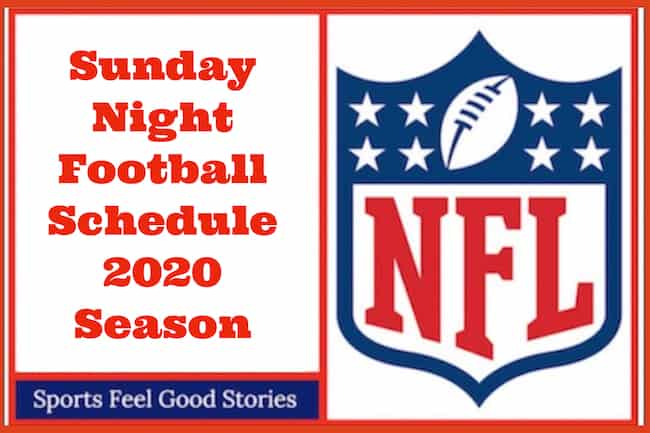 NFL Sunday Night Football Schedule 2020 image