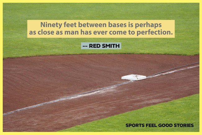 Red Smith famous sports quotes on baseball image