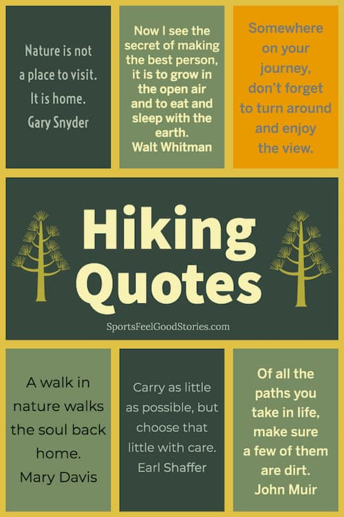 Awesome hiking quotes image