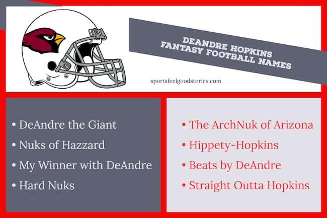 Good DeAndre Hopkins fantasy football names image