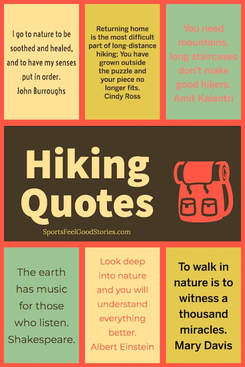 Motivational hiking sayings and quotations image