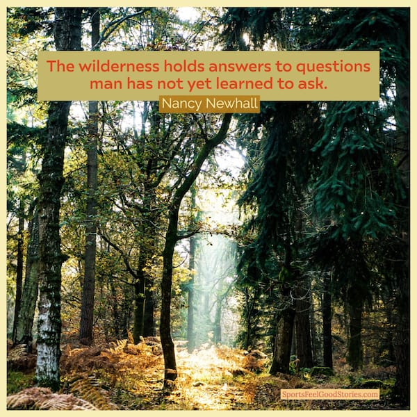 Nancy Newhall quote on hiking through the wilderness image
