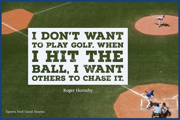 Roger Hornsby on baseball and golf
