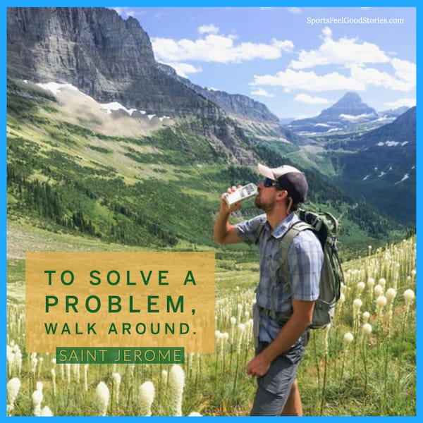 To solve a problem walk around image