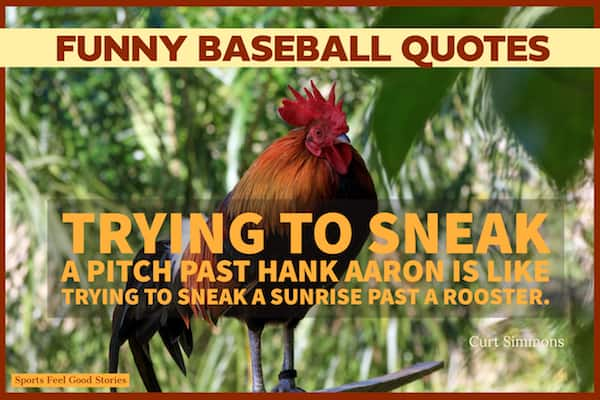 Quote about sneaking a pitch by Hank Aaron