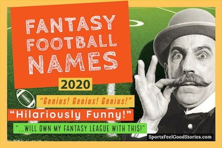 Funny fantasy football team names 2020 button