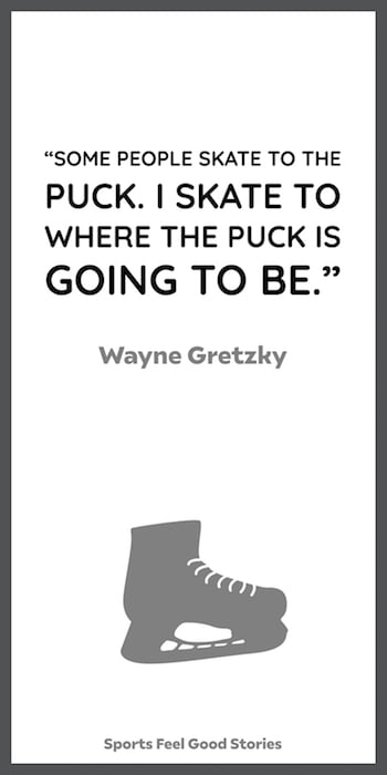Gretzky quote on skating to where the puck will be