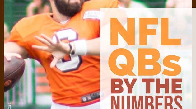 NFL Quarterbacks jersey sales, hand size, speed