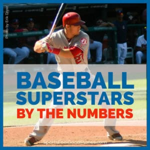 Stats for baseball superstars