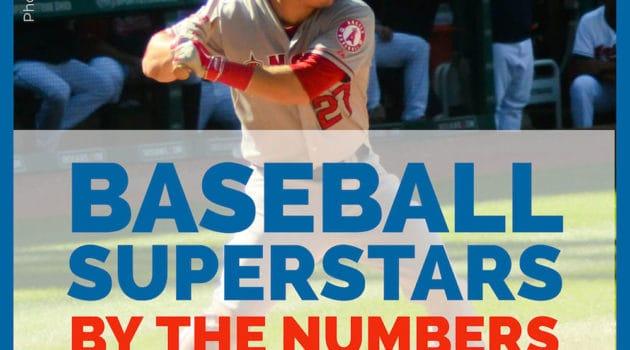 Stats for baseball superstars