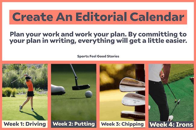 Create an editorial calendar