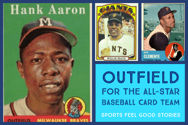 Outfield for the all-star baseball card team