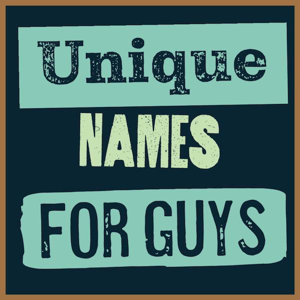 Unique monikers for men