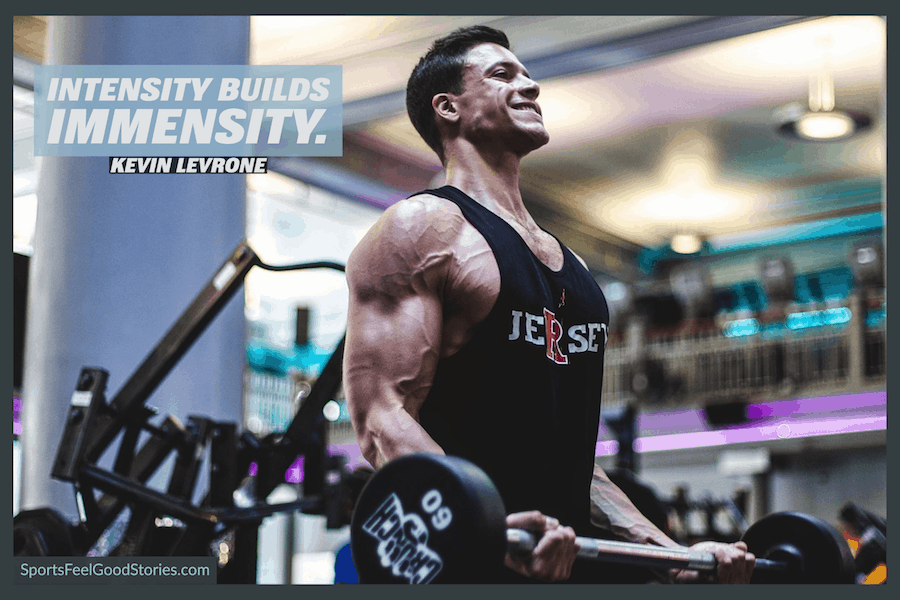 Intensity builds immensity - motivational weightlifting quotes