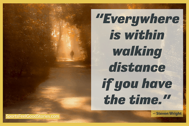 Steven Wright - walking quotes