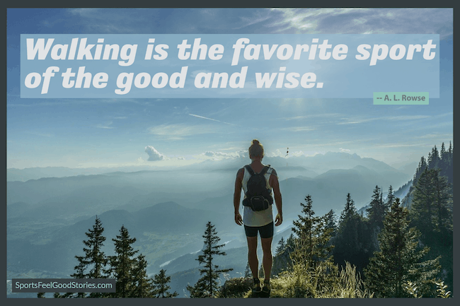 Walking is the favorite sport of the good and wise meme