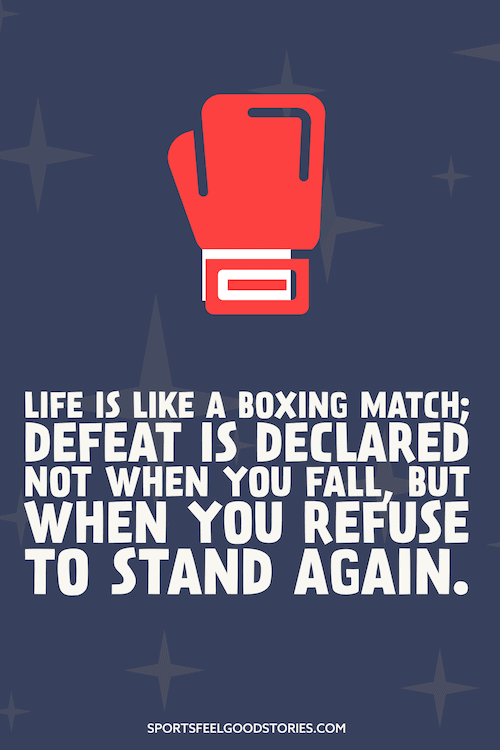 Life is like a boxing match - boxing quotes