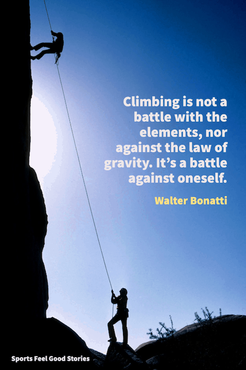 A battle against oneself saying