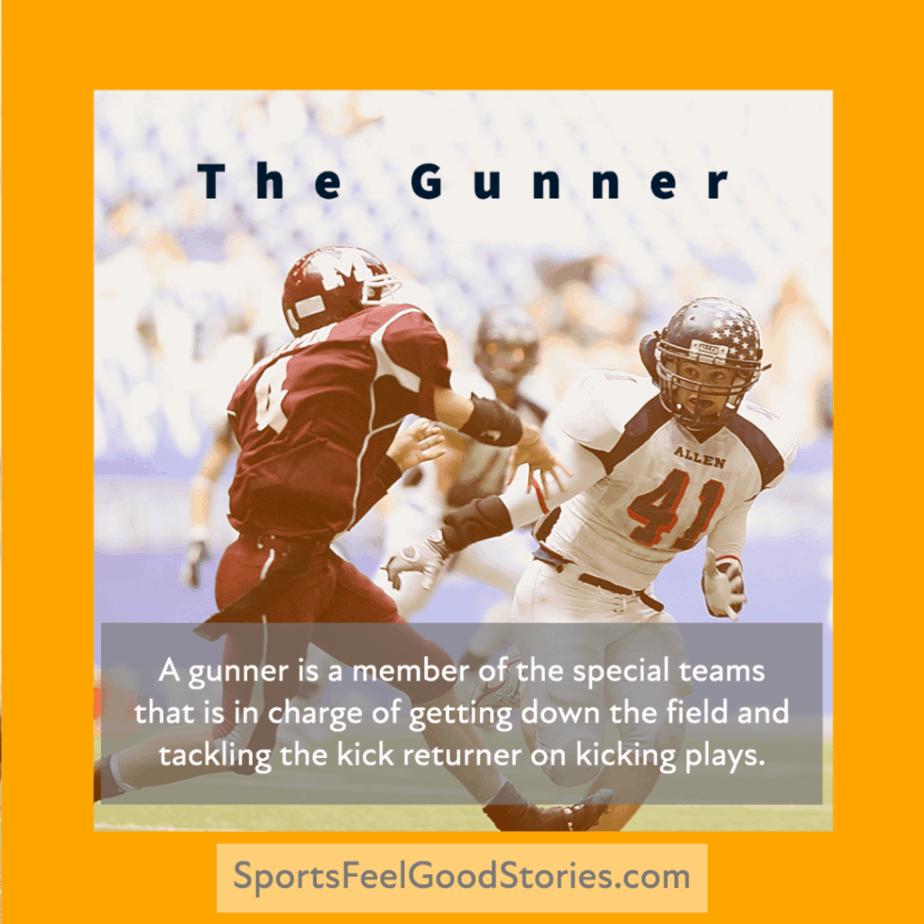 A Gunner in football definition