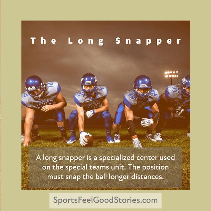 long snapper in football