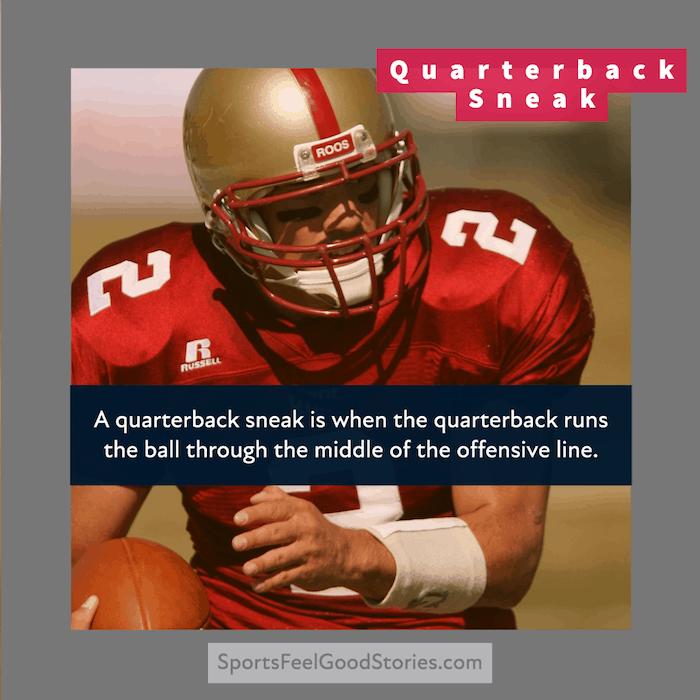 Quarterback Sneak in Football