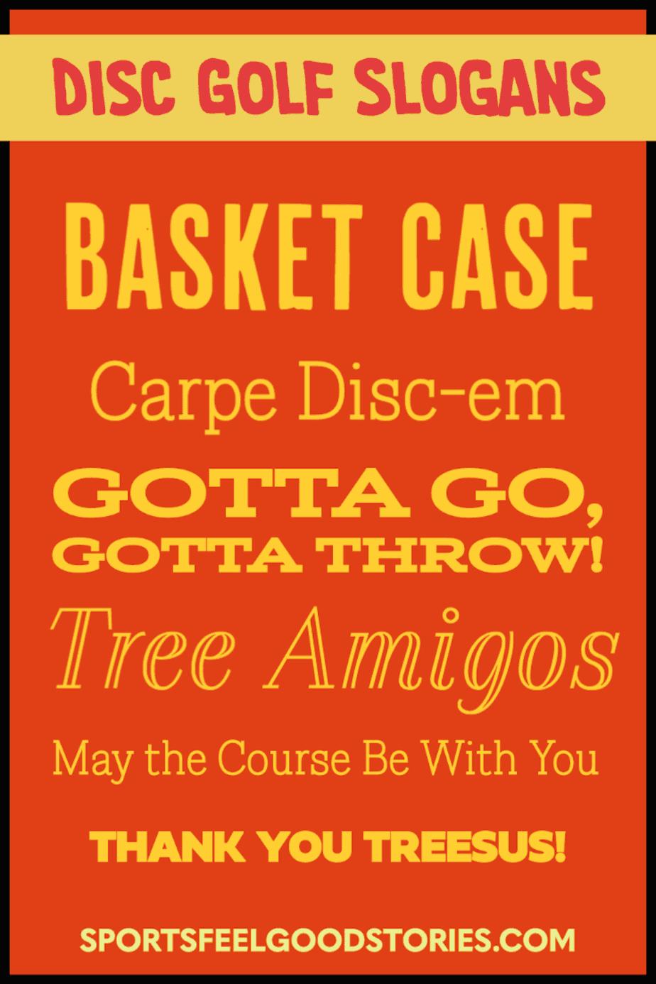 Best Disc Golf Slogans