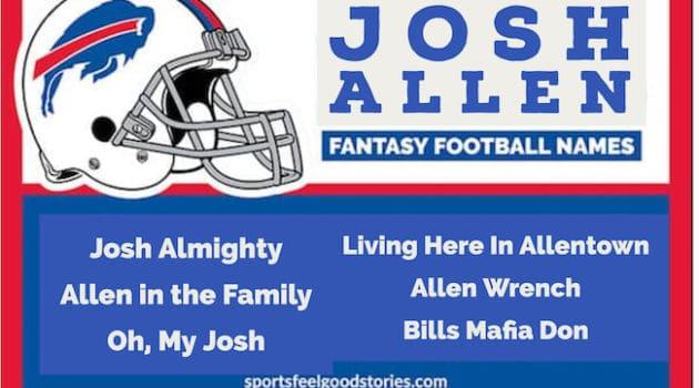 Josh Allen Fantasy Football Team Names