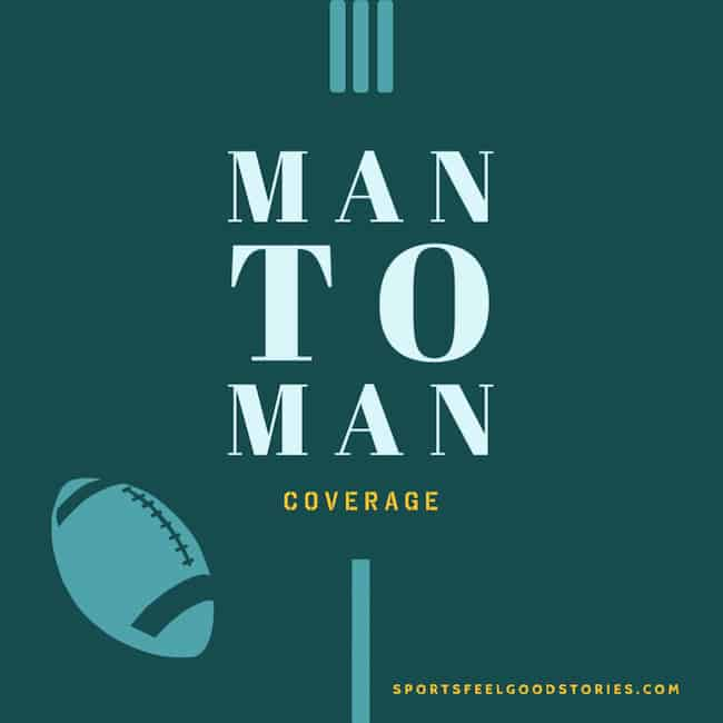 man to man coverage in football